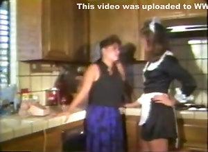 Lesbian,Dark Hair,fruit,Kitchen,Lesbian CY AN 33