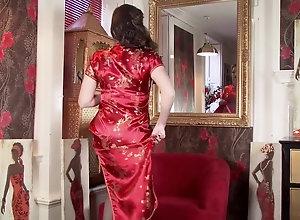 Brunette,Vintage,Classic,Retro,Big Tits,Stockings,MILF,Solo Female,Sophia Delane Sophia Delane - 11