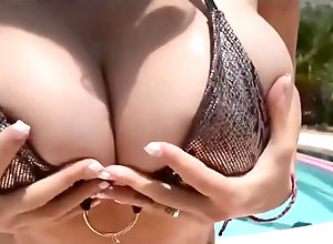 Vintage,Classic,Retro,Big Tits,Knockers,Pool busty pool girl
