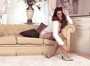 Brunette,Vintage,Classic,Retro,Stockings,MILF,Solo Female Taylor T - 03