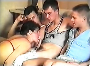 Group Sex,Gangbang,circle jerk,Jerking,Russian,Triple Penetration,Vintage,Young (18-25) Vintage - Russian...