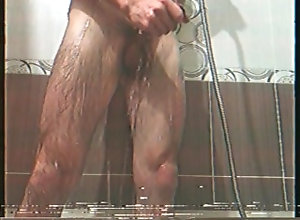 big-dick;black-and-white;retro;vhs,Solo Male;Gay washing my big dick