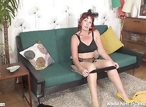 nhlpcentral;masturbate;kink;redhead;nylons;lingerie;panties;high-heels;stiletto-heels;strip;garter-belt;fingering;british;mature-cougar;retro;vintage;beau;diamond,Fetish;Masturbation;Mature;Pornstar;Red Head;British;Solo Female;Female Orgasm,Beau Dia Randy mature...