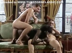Double Penetration,Ebony,Vintage,Classic,Retro,Threesome,Ebony,Master,Slave Ebony slave gets...