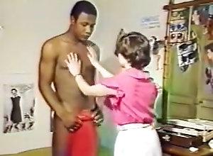 Retro sex vintage interracial