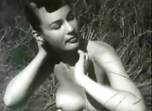 Softcore,Brunette,field,Model Ukulele in a Field