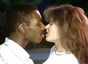 Vintage;Interracial;Kissing Aja with lover