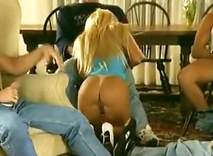 Anal,Blonde,Gangbang,Blonde,Pretty,Triple Penetration,Vintage Angel Ash - Gangbang