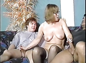 German;Grannies;Matures;Old+Young;Vintage;Two Dicks;Granny Nerdy granny gets...