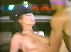 Brunette,Police,Raunchy Papillon is a...
