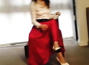 British;Secretaries;Vintage;Voyeur;HD Videos;Satin Skirt;Satin;Skirt Satin Skirt Is...