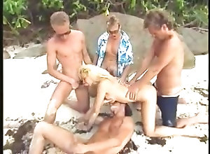 Beach;Blondes;Gangbang;Hardcore;Vintage;Gang Bang;On the Beach;On Beach Gang Bang on the...