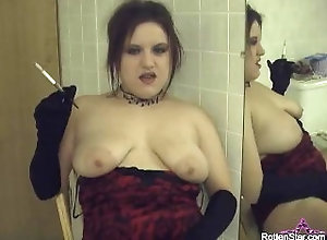 retro;big;boobs;alhana;winter;rottenstar;hotwife;nudist;swingers;verified;amateurs;smoking;gloves;holder;vintage;bathroom;fetish;cigarette;nicotine,Amateur;Big Tits;Vintage;Smoking;Verified Amateurs;Solo Female Smoking Vintage...