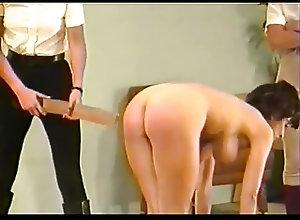 Big Boobs;Lingerie;Spanking;Striptease;Vintage;Girl Spank 2 dommes spank...