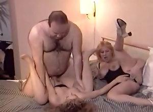Vintage,Classic,Retro,Threesome,Big Tits,Cunnilingus,daddy,daughter,Mom Mom, Dad, Daughter