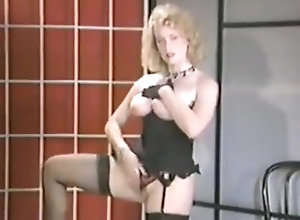 Masturbation,Vintage,Classic,Retro,Stockings,Solo,Vintage Buffy Davis -...