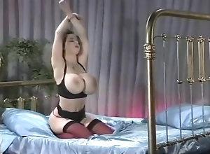 Brunette,Vintage,Classic,Retro,Big Tits,MILF,Solo Female Superb Letha Weapons