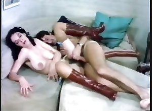 Hairy;Big Boobs;Vintage;Lingerie;Red Boots;Crocodile;Boots crocodile and red...