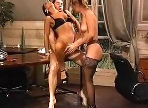 Anal,Brunette,Threesome Karen Lancaume -...