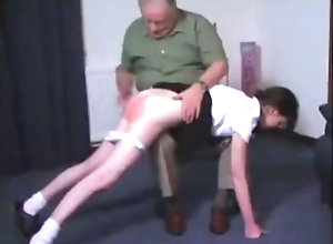 Brunette,Vintage,Classic,Retro,Old and Young,Spanking,Teens,nextdoor,Oldy,Spanked old guy spanking...