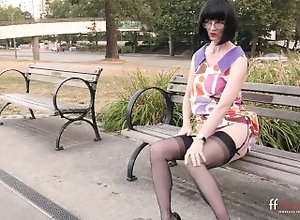 ffstockings;exhibitionist;naked-outside;vintage-lingerie;stockings;public-strip;flashing;naked-rush-hour;sexy-secretary;horny-milf;mature-cougar;mature;julia-teacher;daring-outside;cant-believe;great-legs,Solo Female I get completely...