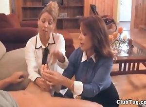 clubtug;hand;job;mom;mother;big;tits;australian;fake;tits,Handjob;Mature;Pornstar;Vintage,Rachel Steele;Stacie Starr Double Milf Handjob