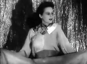 Brunette,Voyeur,Striptease,Small Tits,Stripping 1940s stripper by...