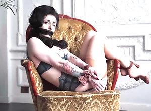 stocking;stockings;bondage;gag;fetish;goddess;brunette;beautiful-girl;sexy-girl;lingerie;sexy-lingerie;retro;pinup;big-boobs;kink;green-eyes,Babe;Big Tits;Brunette;Fetish;Verified Amateurs;Solo Female;Tattooed Women Fetish diva and...