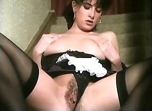 Brunette,Vintage,Classic,Retro,Big Tits,Hairy,Stockings,British,Solo Female British Vintage Maid