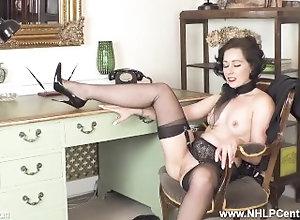 nhlpcentral;kink;masturbate;petite;nylons;panties;brunette;secretary;office;fingering;high-heels;fetish;small-tits;garter-belt;retro;glamour,Babe;Brunette;Fetish;Masturbation;Small Tits;British;Solo Female;Female Orgasm Sexy secretary...