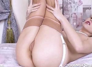 nhlpcentral;masturbate;kink;petite;lingerie;panties;nylons;stockings;high-heels;wanking;blonde;babe;british;fetish;pumps;garter-belt;english,Babe;Blonde;Fetish;Masturbation;Pornstar;Small Tits;British;Solo Female,Chloe Toy Naughty blonde...