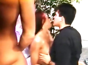 Hairy,Group Sex,Anal,Couple,Double Penetration,Penetrating,Redhead Ashley Nicole...