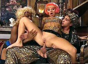 Fisting,Ebony,Blond,Red Head,Vintage,Classic,Retro,Threesome,Stockings,Handjob,Cumshot,Threesome Costumed...