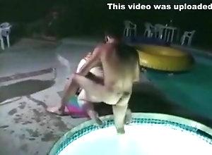 Blonde,BBW,Plumper,Pool,Swimming BBW in the...