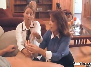 clubtug;hand;job;mom;mother;big;tits;australian;fake;tits,Handjob;Mature;Pornstar;Vintage,Rachel Steele;Stacie Starr Double Milf Handjob