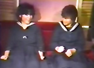 Lesbian,Asian,Threesome,Costume,Couple,First Time,Lesbian,school,School Uniform,Tokyo,Uncensored,Vintage 80s Japanese...